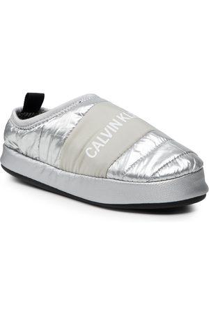 Calvin Klein Femme Mules & Sabots - Chaussons - Home Shoe Slipper YW0YW00479 Silver 0IN