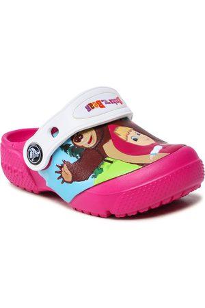 Crocs Femme Mules & Sabots - Mules / sandales de bain - -Masha Bear Patch Clog Kids 207079 Candy Pink