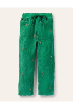 Boden Pantalon cosy en velours côtelé doublé GRN Garçon Boden