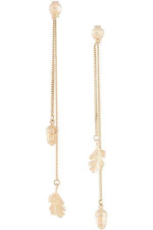 Karen Walker Boucles d'oreilles pendantes à feuilles