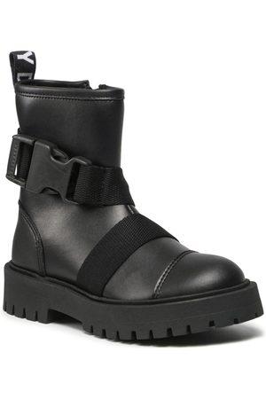 DKNY Fille Bottes de neige - Bottes de randonnée - D39063 S Black 09B