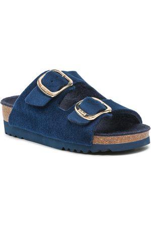 Scholl Mules / sandales de bain - Ilary Velvet F29536 1040 350 Navy Blue