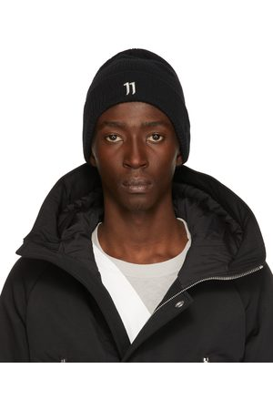11 BY BORIS BIDJAN SABERI Homme Bonnets - Bonnet 11xne noir à logo
