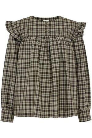 People Tree Helen Checked Blouse Brun, Femme, Taille: UK 10