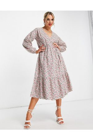 Glamorous Robe portefeuille mi-longue à imprimé petites cerises