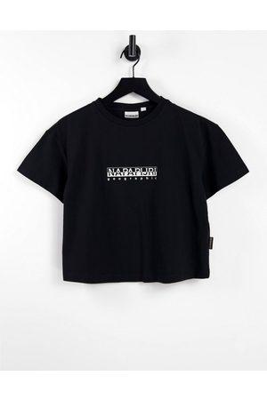 Napapijri T-shirt crop top à logo encadré