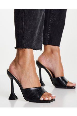 Glamorous Sandales à talon tendance - Noir Croco-Sans opinion