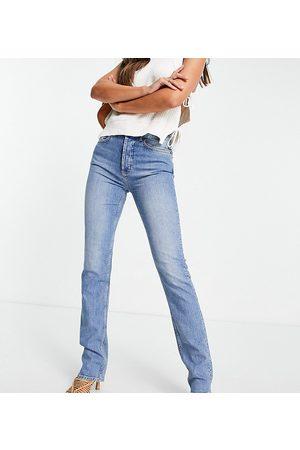 ASOS ASOS DESIGN Tall - Jean droit stretch confortable à taille mi-haute - délavé moyen
