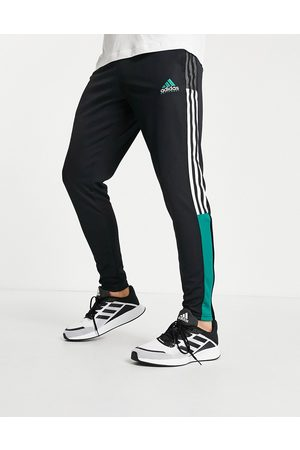 adidas Homme Pantalons - Adidas - Tiro Football - Jogger à bandes vertes