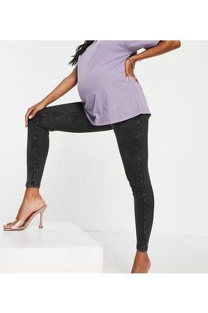 ASOS ASOS DESIGN Maternity - Legging côtelé recouvrant le ventre - délavé