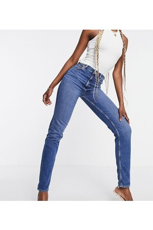 ASOS ASOS DESIGN Tall - Farleigh - Jean mom slim taille haute - Délavage authentique