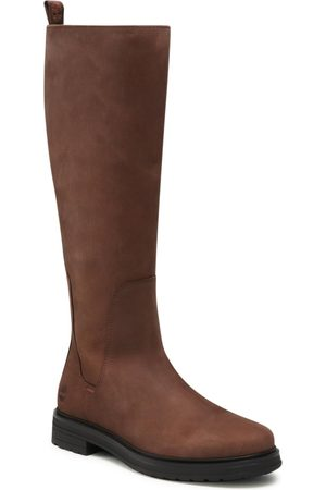 Timberland Bottes cavalières - Hannover Hill Tall Boot TB0A2N339311 Dark Brown Nubuck