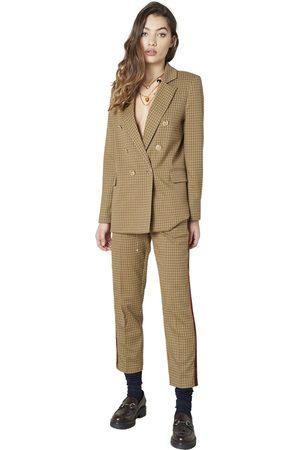 Silvian Heach Pantaloni con banda laterale Brun, Femme, Taille: 48