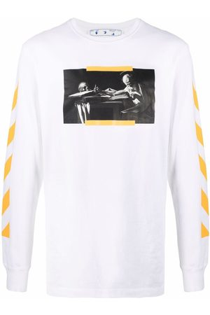 OFF-WHITE Homme Manches courtes - CARAV PAINTING L/S TEE WHITE MULTICOLOR
