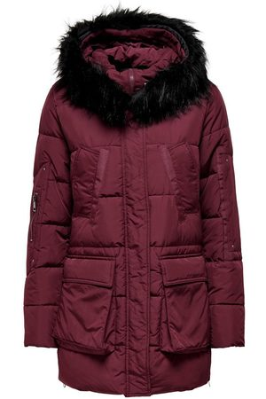 ONLY Quilted Parka Women Red