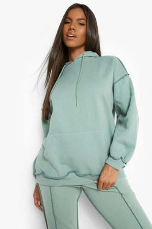 Boohoo Contrast Stitch Hooded Oversized Tracksuit