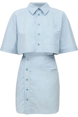 Jacquemus Mini-robe En Lin Et Viscose La Robe Arles