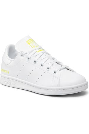 adidas Fille Chaussures basses - Chaussures - Stan Smith J GZ8364 Ftwwht/Ftwwht/Sesoye