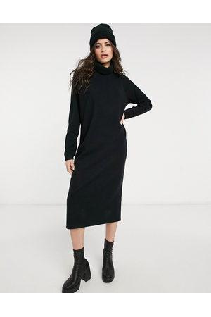 ASOS Robe pull mi-longue à coutures apparentes et col bénitier en tissu ultra doux