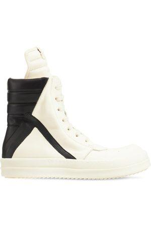 Rick Owens Sneakers Montantes En Cuir Babygeo