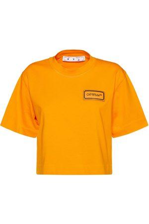 OFF-WHITE T-shirt Court En Jersey Avec Patch Logo
