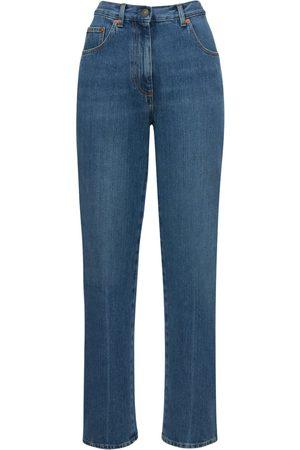 Gucci Femme Coupe droite - Denim Eco Bleached Straight Jeans