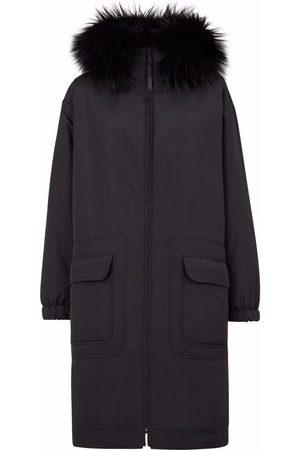 Fendi Manteau réversible à capuche