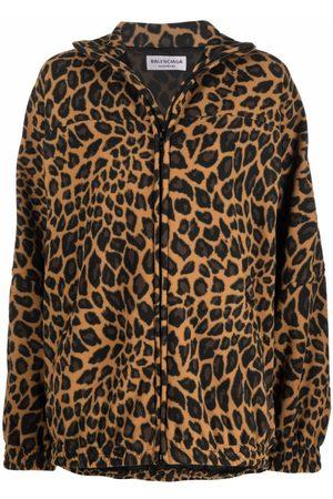 Balenciaga Veste légère à imprimé léopard