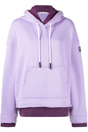 Palm Angels PXP DOUBLE LAYER HOODY LILAC WHITE