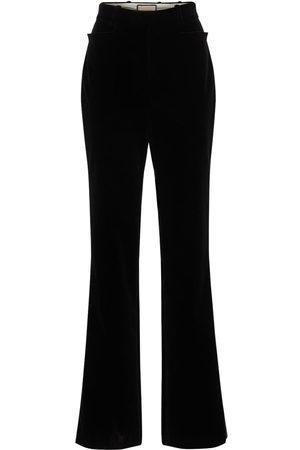 Gucci Femme Pantalons - Soft Cotton Velvet Fluid Pants