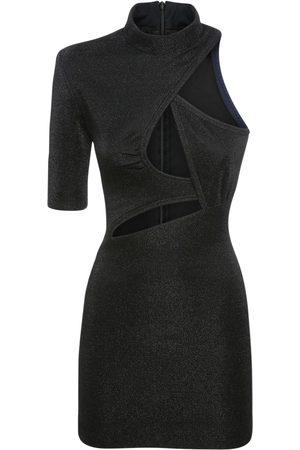 Stella McCartney Mini-robe En Lurex Stretch Ajouré