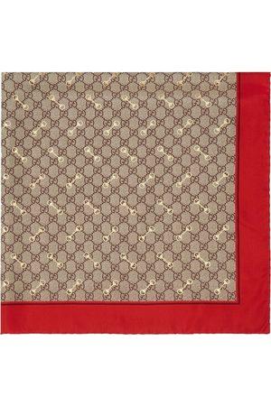 Gucci GG Horsebit silk scarf