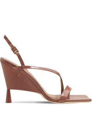 GIA Femme Sandales - Sandales En Cuir Verni Rosie 5 100 Mm