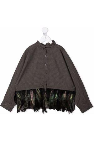 Le pandorine Fille Chemises - Feather-trimmed cotton shirt