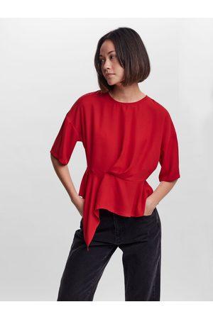 VERO MODA Femme Manches courtes - Short Sleeve Top Women red
