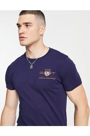 GANT Archive - T-shirt ajusté avec logo écusson brodé - marine