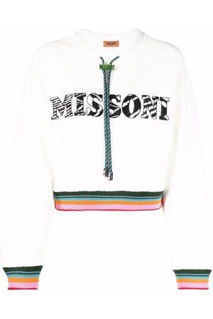 Missoni Femme Sweatshirts - Drawstring crew neck sweatshirt