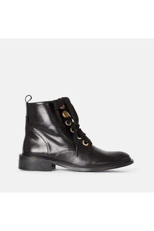Minelli Boots cuir à lacets Rabiatou