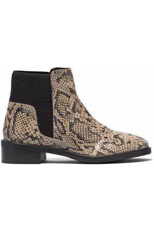 Pepe Jeans Femme Bottines - Boots cuir imprimé python Orsett