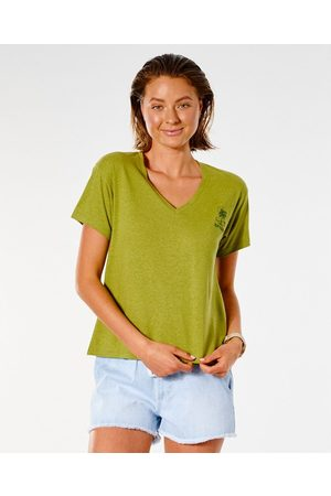 Rip Curl T-shirt à manches courtes Salt Water Culture col en V