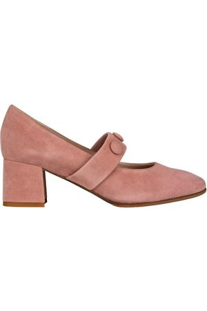 Mz Made For Petite Babies Escarpins cuir italiens à bouton Talon carré ROMIE - chaussures petites pointures