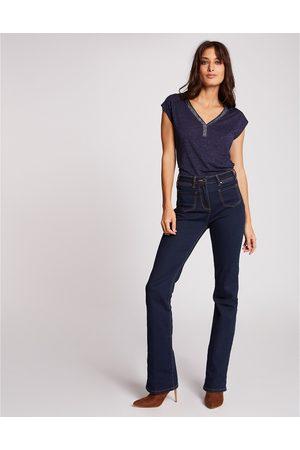 Morgan Femme Manches courtes - T-shirt col V
