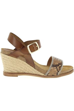 Coco et abricot Sandales Cuir Snake COCO