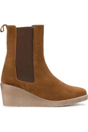 Bensimon Femme Bottes - Boots en cuir compensées