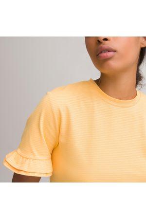 La Redoute T-shirt col rond rayé, détail volants