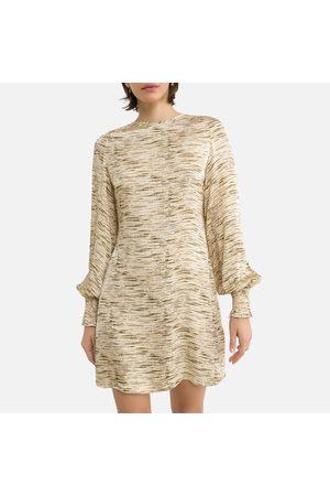 Samsøe Samsøe Femme Robes imprimées - Robe droite imprimée courte, manches blousantes