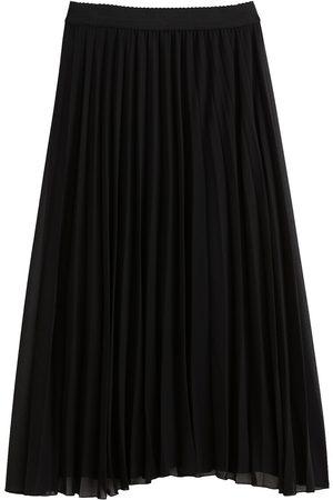 Naf-naf Femme Jupes plissées - Jupe longue plissée en voile