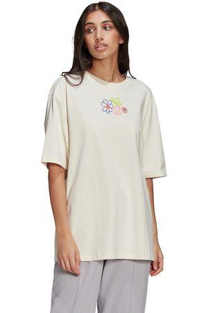 adidas T-shirt col rond avec motif
