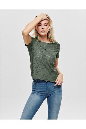 JACQUELINE DE YONG Femme Manches courtes - T-shirt brodé