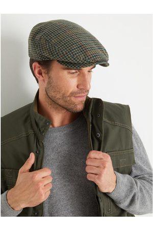 HONCELAC Homme Chapeaux - Casquette à carreaux avec laine